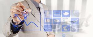 19646893 - businessman hand draws business success chart concept on virtual screen